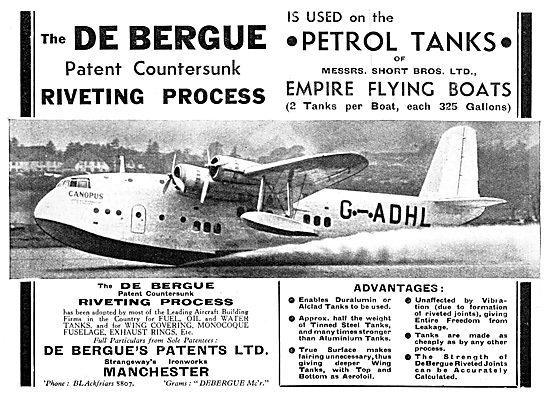 De Bergue's Patents - Patent Countersunk Riveting Process