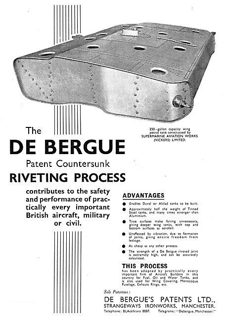 The De Bergue Patent Countersunk Riveting Process