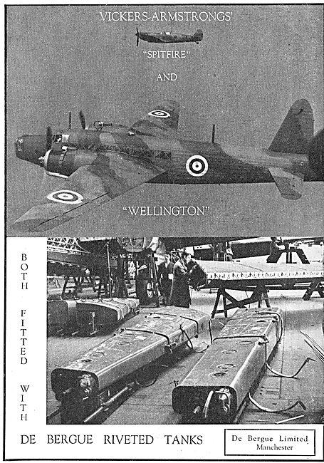 De Bergue's Patents Riveted Fuel Tanks For Aircraft