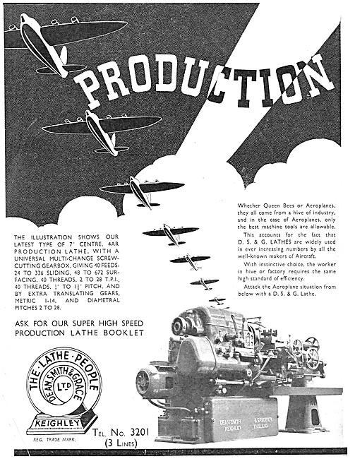 Dean Smith & Grace Production Lathes 1939