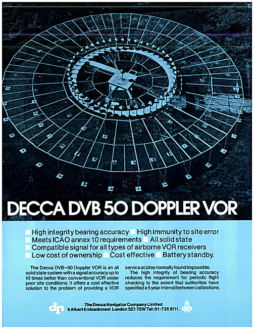 Decca DVB-50 Doppler VOR Station Installations