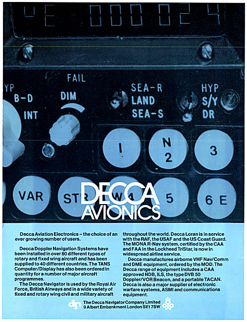 DEcca Doppler Navigation System - TANS Computer Display