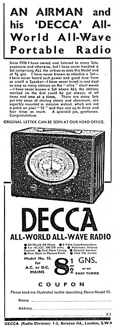 Decca All World Portable Radio