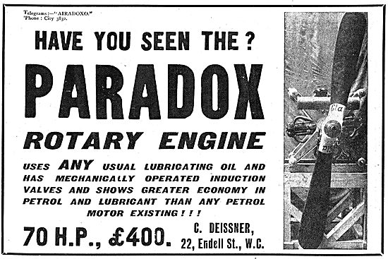 Have You Seen The Paradox Rotary Engines For Aeroplanes