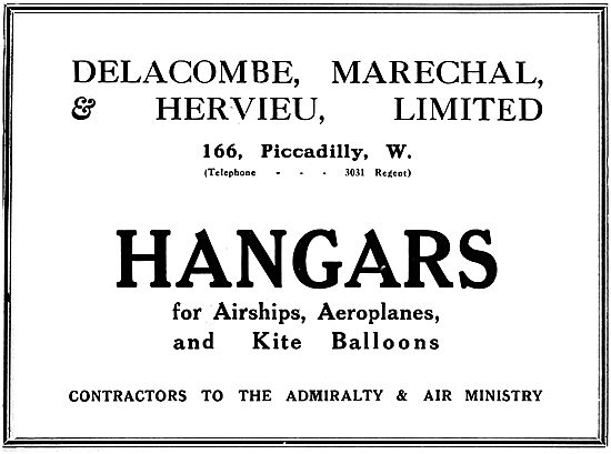 Delacombe & Marechal Hangars For Airships & Kite Balloons - 1919