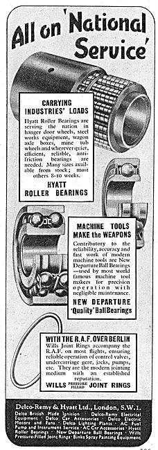 Delco Remy Hyatt Roller Bearings, Machine Tools & Joint Rings