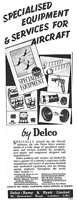 Delco Remy Equipment For Aircraft