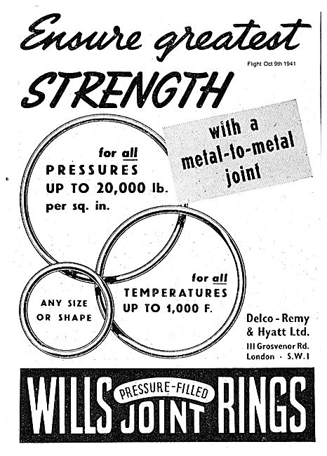 Delco Remy Wills Pressure Filled Joint Rings