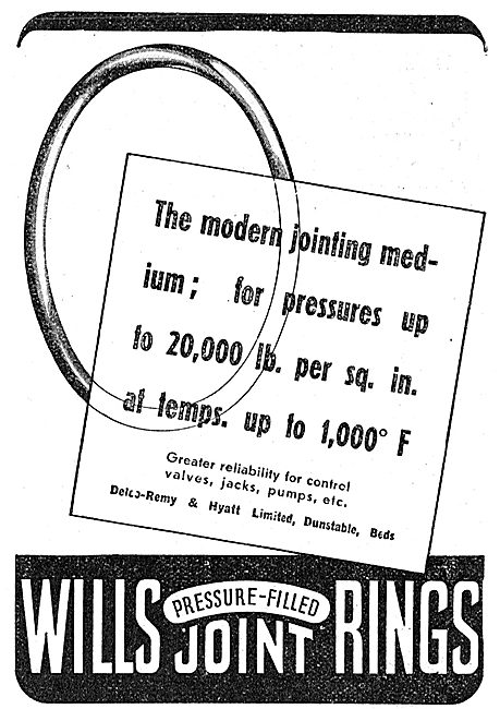 Delco Remy & Hyatt. Wills Pressure-Filled Joint Rings