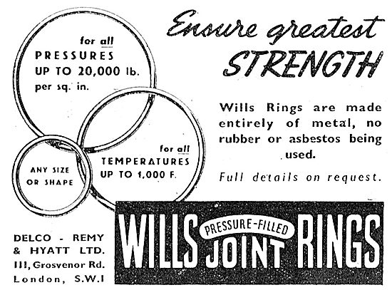 Delco-Remy & Hyatt . Wills Pressure-Filled Joint Rings