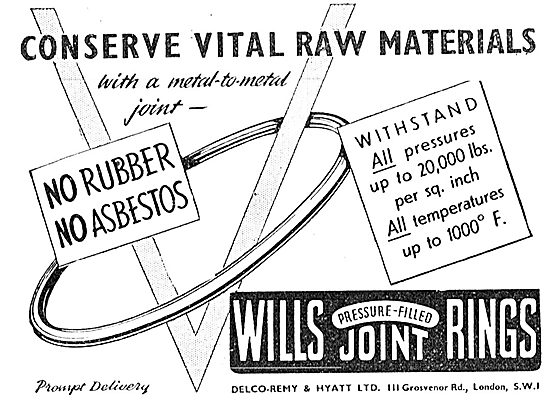 Delco Remy & Hyatt . Wills Pressure-Filled Joint Rings