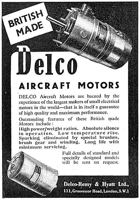 Delco Electric Motors 1943