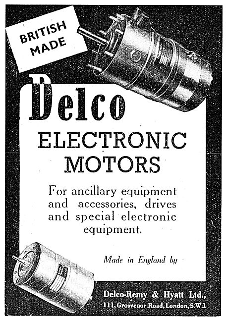 Delco Electronic Motors 1943