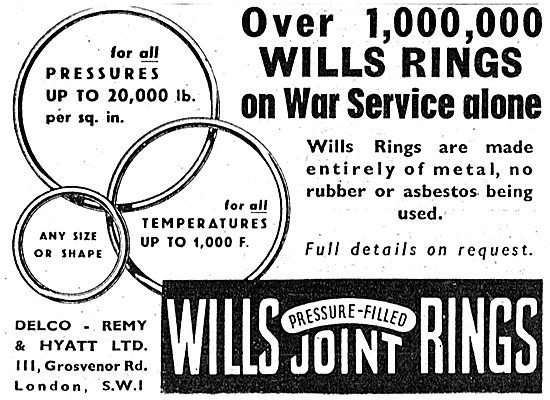 Delco-Remy. Wills Pressure Filled Joint Rings