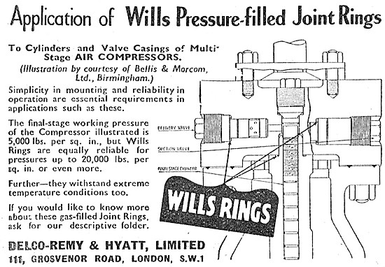Delco Wills Pressure-Filled Joint Rings