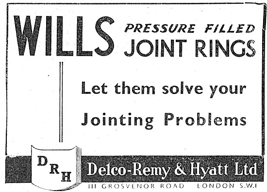 Delco-Remy Wills Pressaure Filled Joint Rings