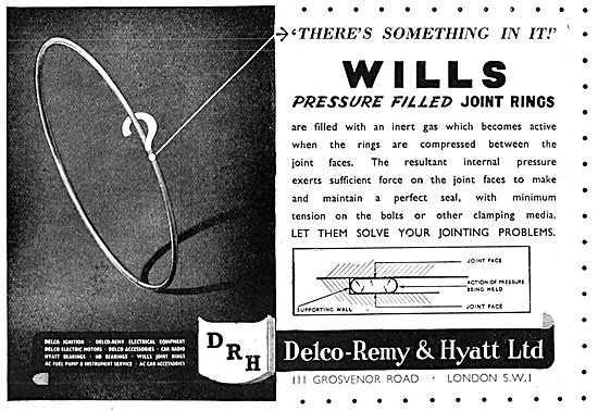 Delco Remy & Hyatt  Wills Pressure Filled Joint Rings