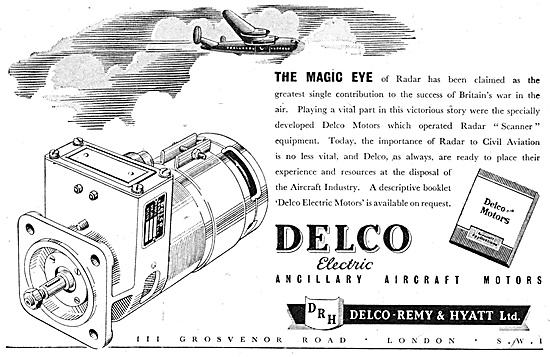 Delco Remy Delco Electric Motors 1947