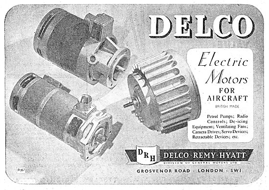 Delco Electric Motors For Aircraft