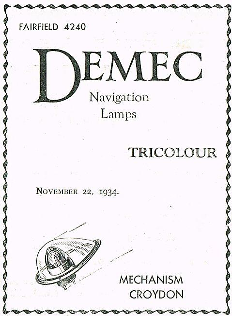 Demec Tricolour Aircraft Navigation Lamps
