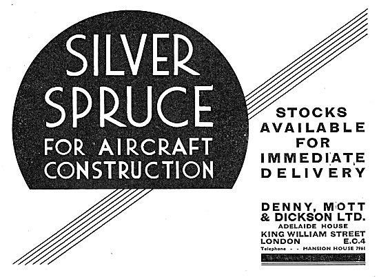 Denny, Mott & Dickson. Wood Merchants. Silver Spruce 1937