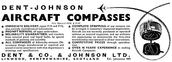 Dent & Co & Johnson Aircraft Compasses