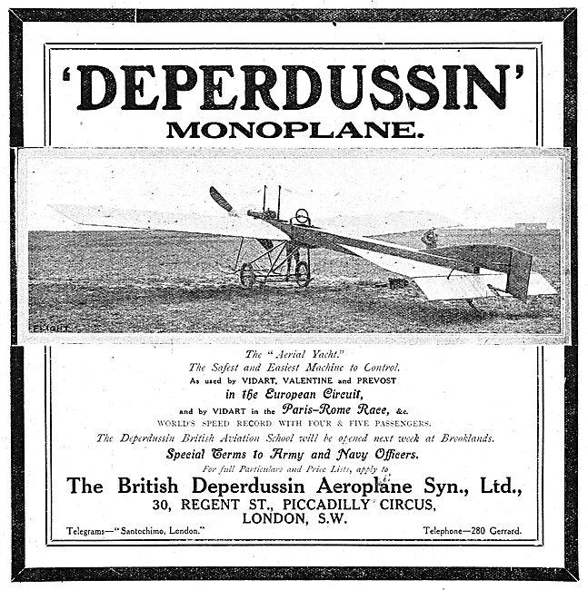 British Deperdussin Monoplane - Aerial Yacht