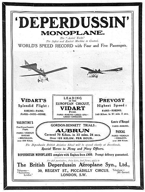 British Deperdussin Monoplane - Vidart Prevost Valentine