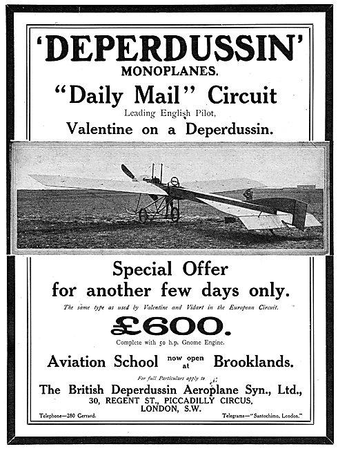 British Deperdussin Monoplane - Aviation School Brooklands