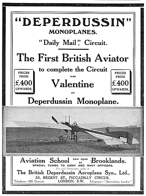 British Deperdussin Monoplane - Daily Mail Circuit