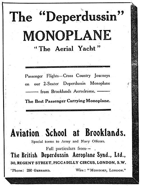 British Deperdussin Monoplane