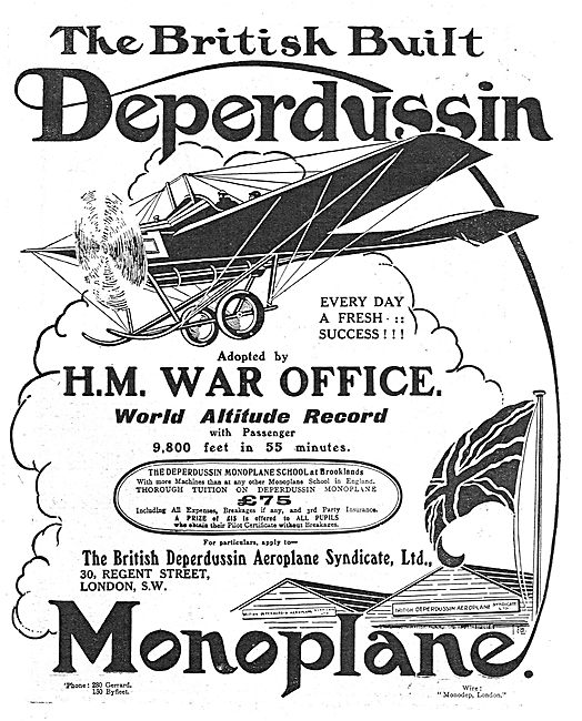 The British Built Deperdussin - Every Day A Fresh Success!