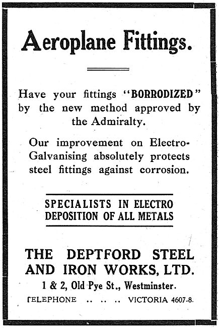 The Deptford Steel & Iron Works. Aircraft