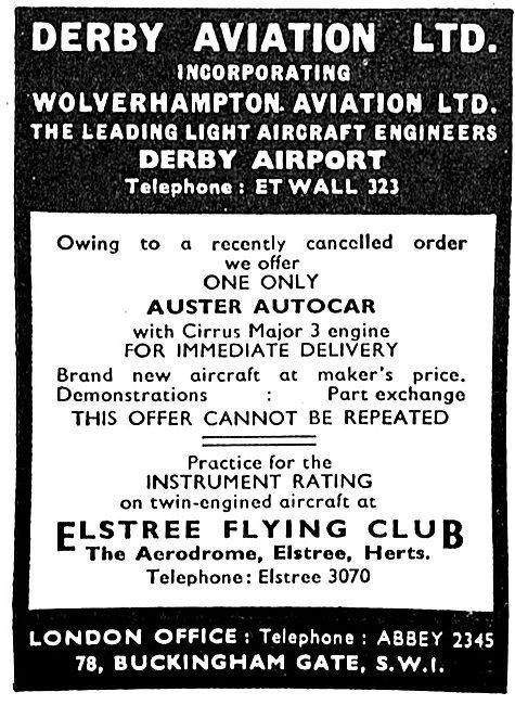 Derby Aviation - Wolverhampton Aviation - Elstree Flying Club