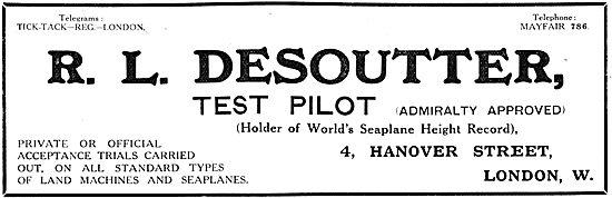 R.L.Desoutter - Test Pilot 1917