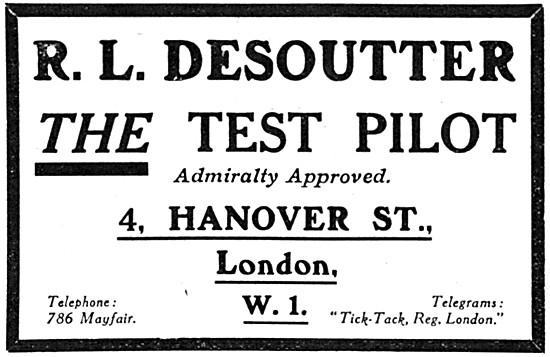 R.L.Desoutter Test Pilot 1917