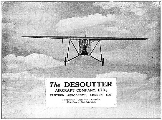Desoutter Aircraft Company Croydon 1929
