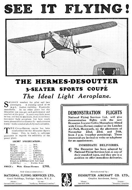 Desoutter Monoplane - Hermes Desoutter Sports Coupe 1929