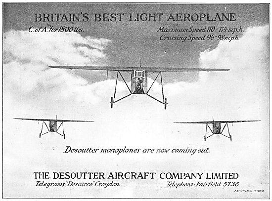 Desoutter Monoplanes
