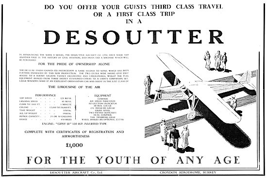 Desoutter Aircraft For The Youth Of Any Age.