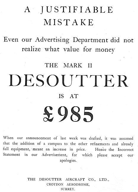 The Desoutter Mk II Is Now £985