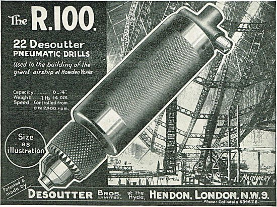 22 Desoutter Pneumatic Drills Used In Building The Giant R100