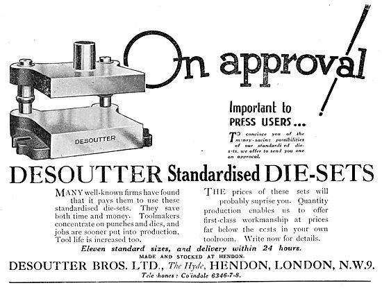 Desoutter Standardised Die-Sets 1930