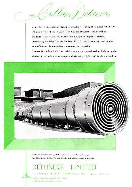 Detuners Aero Engine Test Bed Equipment - Cullum Detuner