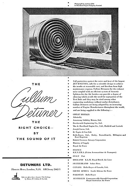 Detuners - Jet Engine Noise Reduction Gear For Ground Running