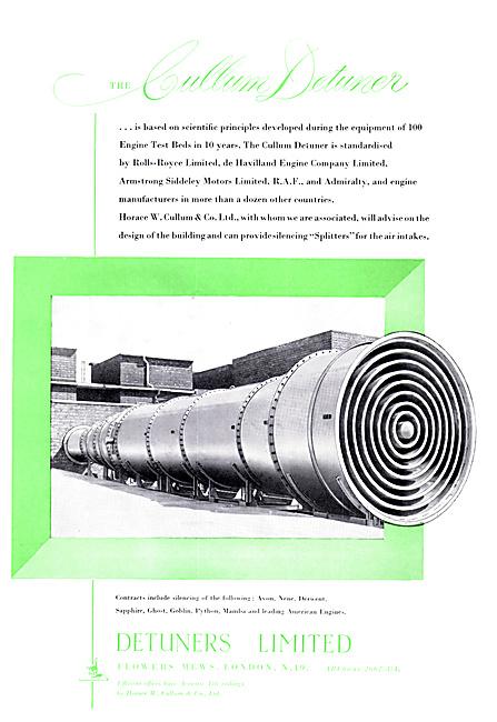 Detuners Engine Test Bed Equipment
