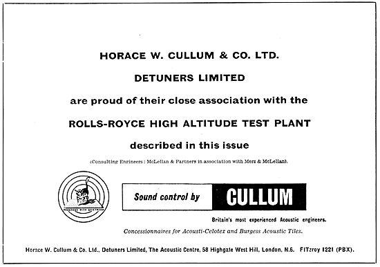 Horace W.Cullum. Cullum Detuners 1958