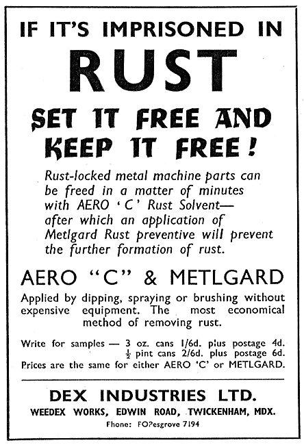 Dex Industries Aero C & Metalgard Anti-Rust Treatments
