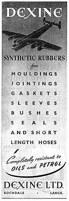 Dexine Synthetic Rubber Mouldings & Jointings For Aircraft 1943