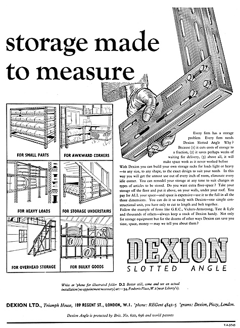 Dexion Slotted  Angle Storage Construction System